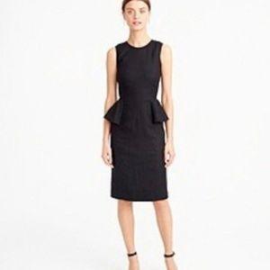 J Crew Linen Peplum Dress NWT Tall